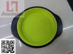 Silicon round pan with metal frame