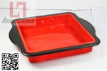 silicon Square cake pan with metal frame